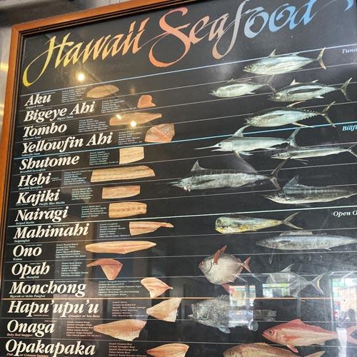 アヒ、オノ、マヒマヒ…<br>魚の名前を知れば<br>ハワイはもっと楽しい