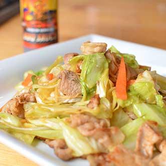 野菜とも相性ばつぐん!<br>BBQソースで簡単<br>ハワイアン町中華